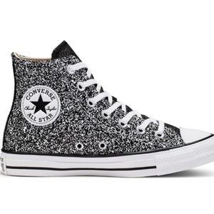 Nwt converse high top glitter sparkle sneakers